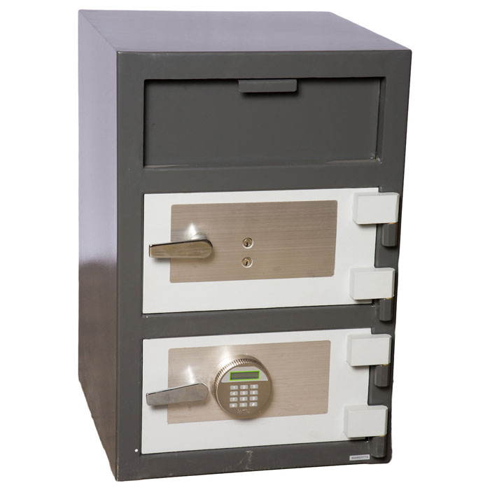Double Door Depository Safe w/ Electronic & Key Lock - FD-3020EK