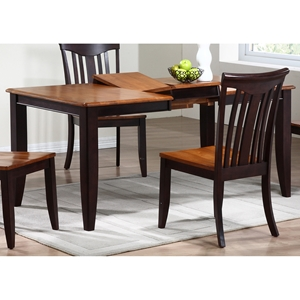 Avelina Extending Dining Table - Rectangle, Whiskey & Mocha Finish