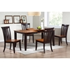 Avelina 5 Piece Extension Dining Set - Whiskey & Mocha Finish - ICON-RT-67-DT-WY-MA-SET