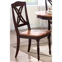 Cyrus Side Chair - Mocha Frame, Whiskey Wood Seat