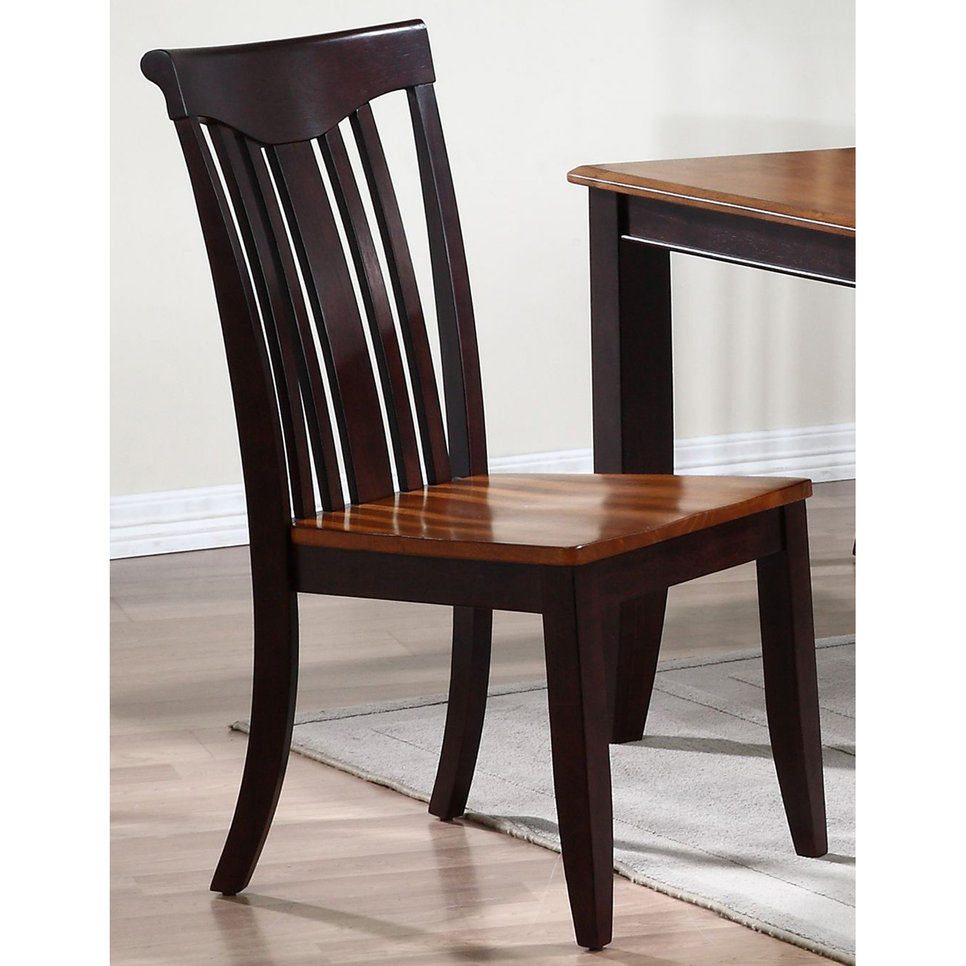 Karenina Side Chair - Slat Back, Wood Seat - ICON-CH51-WD