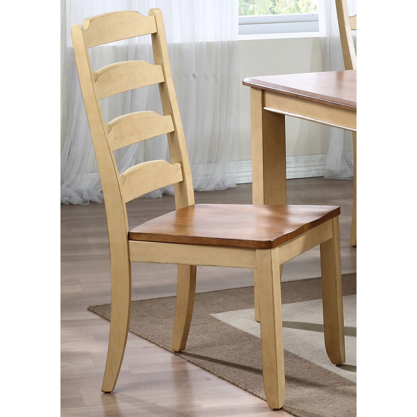 Marilyn Ladder Back Side Chair - Honey & Sand Finish - ICON-CH55-HN-SD