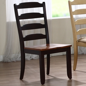 Marilyn Ladder Back Side Chair - Whiskey & Mocha Finish