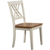 Double X-Back Dining Chair - Caramel and Biscotti - ICON-CH56-CL-BI