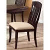 Belga Side Chair - Slat Back, Fabric Seat, Mocha - ICON-CH58-97U-MA