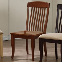 Belga Side Chair - Slat Back, Cinnamon Finish