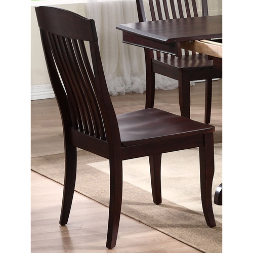 Belga Side Chair Slat Back Mocha Finish Dcg Stores