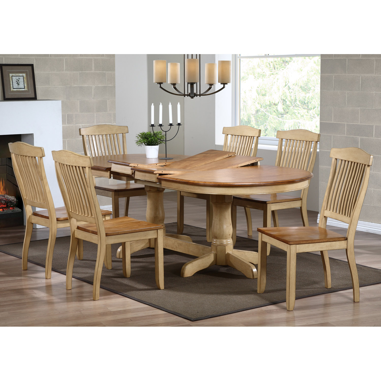 ... Gatsby Oval Dining Table   Double Butterfly Leaf, Honey U0026 Sand    ICON OV90