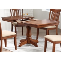 Karenina Extending Dining Table - Boat Shape Top, Cinnamon