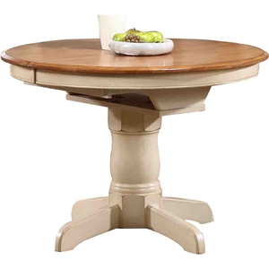 Round Counter Dining Table - Caramel and Biscotti