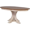 5 Pieces Deco Dining Set - Double X-Back, Wood Seat, Caramel and Biscotti - ICON-RD45-DECO-CH56-CL-BI