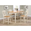 5-Piece Counter Dining Set - Wood Seat, Butterfly Back, Caramel, Biscotti - ICON-RT67-CT-TU-STC50-CL-BI