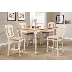 5-Piece Counter Dining Set - Napoleon Back, Caramel and Biscotti
