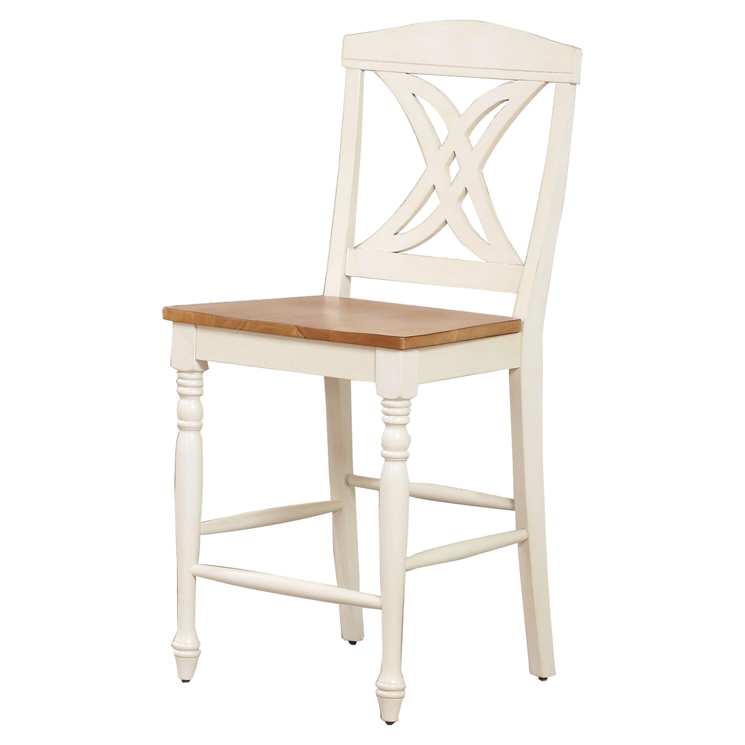 "Butterfly Back 24"" Counter Stool - Caramel and Biscotti - ICON-STC50-CL-BI"