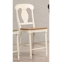 "Napoleon Back 24"" Counter Stool - Caramel and Biscotti"
