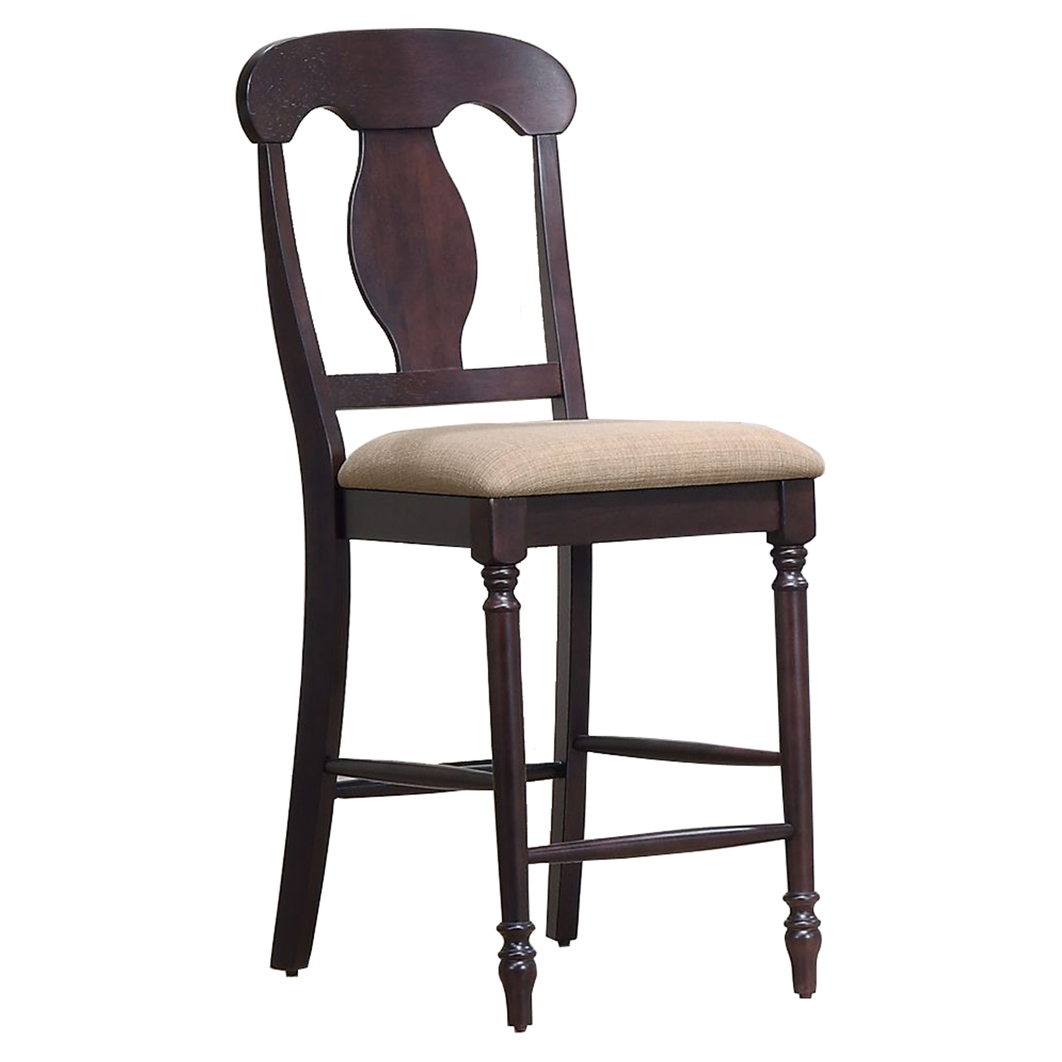 Napoleon Back 24quot Counter Stool Upholstered Seat Mocha  : stc53 u 97 ma from www.dcgstores.com size 1000 x 1000 jpeg 167kB