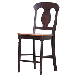 "Napoleon Back 24"" Counter Stool - Whiskey and Mocha"