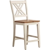 "Double X-Back 24"" Counter Stool - Caramel and Biscotti - ICON-STC56-CL-BI"
