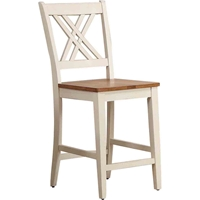 "Double X-Back 24"" Counter Stool - Caramel and Biscotti"