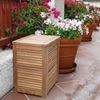Le Spa Teak Laundry Hamper Basket in Natural Finish - INF-1255