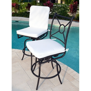 Comfort Care Swivel Bar Stool with Cushions (Set of 2)