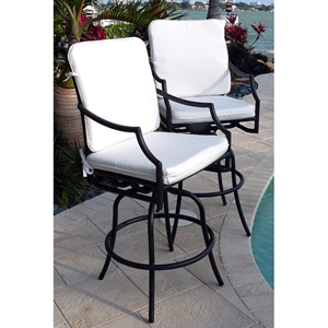 Comfort Care Swivel Counter Stool with Armrests (Set of 2)