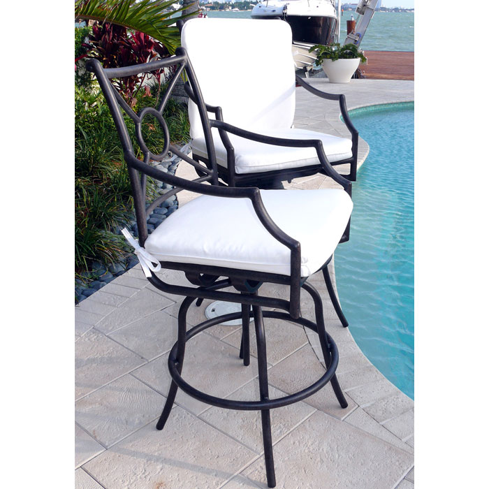 Comfort Care Swivel Bar Stool with Armrests (Set of 2) - INF-11621