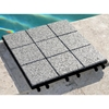 Jointstone Granite Interlocking Deck Tile in Dark Grey (Set of 10) - INF-11775