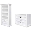 Halifax White Mahogany Bookcase / Display Case - INF-11997