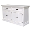 Halifax Mahogany 2-Drawer Buffet in White - INF-12000