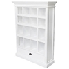 Halifax White Mahogany Bookcase with Drawer - INF-12079