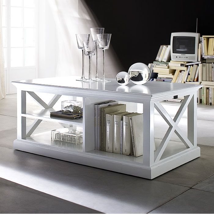 Halifax Mahogany Coffee Table In White Dcg Stores