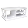 Halifax Mahogany Coffee Table in White - INF-12093