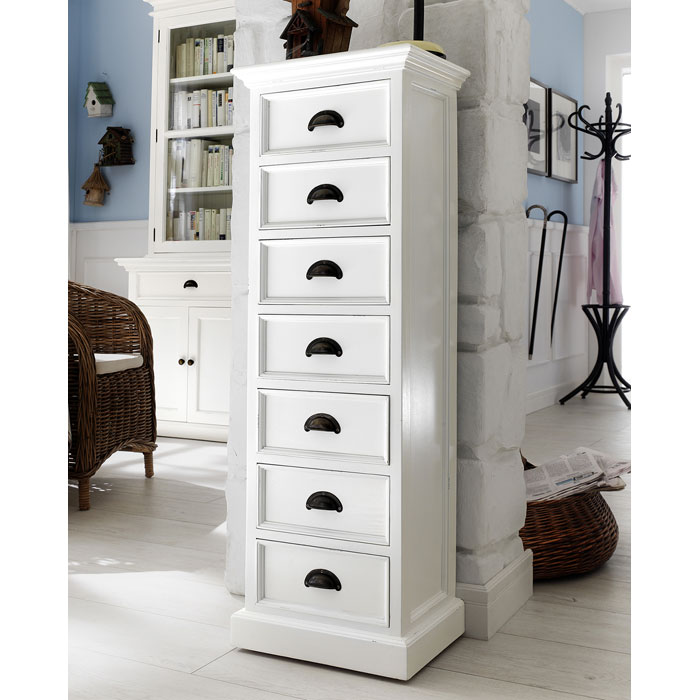Halifax White Mahogany 7 Drawer Chest Dcg Stores