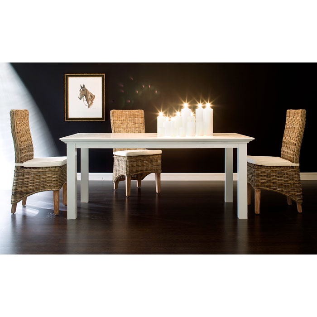 Halifax white mahogany dining table dcg stores