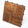 Le Click Windmill Dark Teak Wood Interlocking Tiles - INF-1118