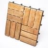 Le Click Windmill Natural Teak Wood Interlocking Tiles - INF-1361