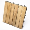 Le Click Classic Natural Teak Wood Interlocking Deck Tiles - INF-1385