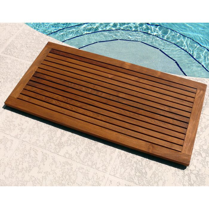 Le Spa Large Rectangle Teak Floor Mat with Frame - INF-1538