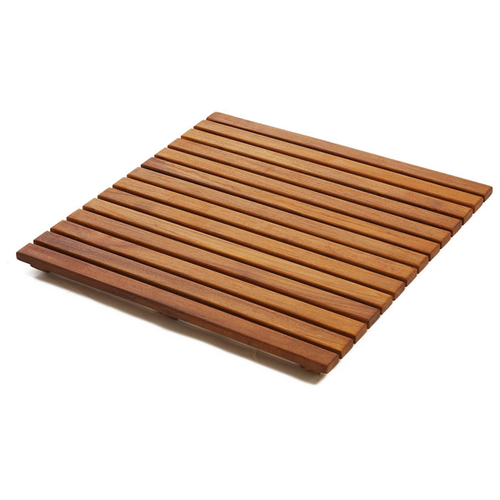 Le Spa Square Teak Floor Mat in Oiled Finish - INF-1651