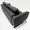 Cassius Deluxe Sofa Bed - Full Size, Sled Legs, Black Leather Look - INN-94-748082004C582-0