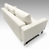 Cassius Deluxe Sofa Bed - Full Size, Sled Legs, White Leather Look - INN-94-748082004C588-0