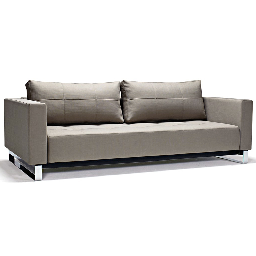 Cassius Deluxe Excess Queen Sofa Bed Tufted Medium Gray