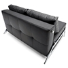 Cubed Deluxe Full Size Sleeper Sofa - Chrome Steel Legs, Black - INN-94-744001C582-0