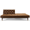 Oldschool Chesterfield Sofa Bed Black Brown Leather Look Dcg  ~ Chesterfield Brown Sofa