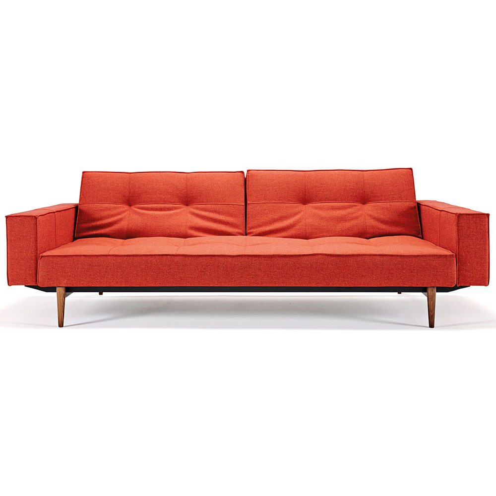 Splitback Deluxe Track Arm Sofa Convertible Wood Legs