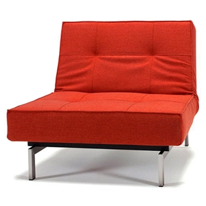 Splitback Deluxe Convertible Chair - Steel Legs, Burned Orange