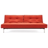Splitback Deluxe Sofa Bed - Stainless Steel Legs, Burned Orange - INN-94-741010C524-8-2
