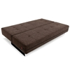 Supremax Deluxe Excess Convertible Sofa - Begum Dark Brown - INN-94-748250C503-0-2