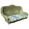 U-Shaped Patio Swing Cushion - Tufted, Patterned Fabric - BLZ-93183-REO